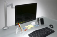 Make efficient use of your precious desktop space. Get a Go-Go- Station desktop organizer between computer keyboard and monitor.